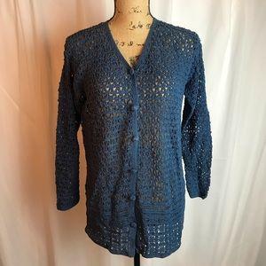 Vintage Carol Little Crochet Cardigan